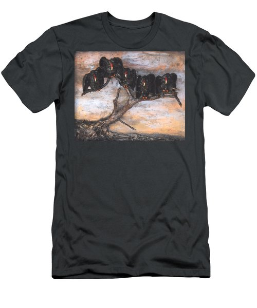 Five Vultures In Tree Men's T-Shirt (Athletic Fit)