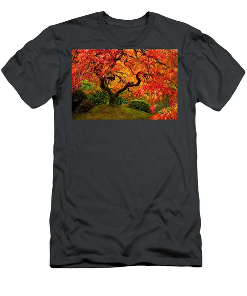 Flaming Maple Men's T-Shirt (Athletic Fit)