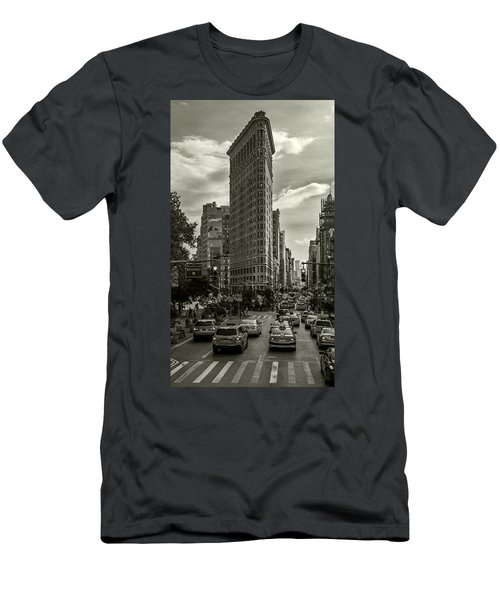 Flatiron Building - Black And White Men's T-Shirt (Athletic Fit)