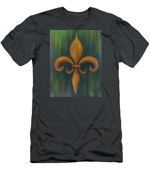 Fleur-de-lis Men's T-Shirt (Athletic Fit)