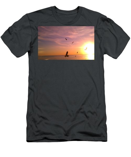 Flight Into The Light Men's T-Shirt (Athletic Fit)