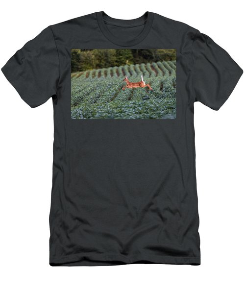 Flight Of The White-tailed Deer Men's T-Shirt (Athletic Fit)