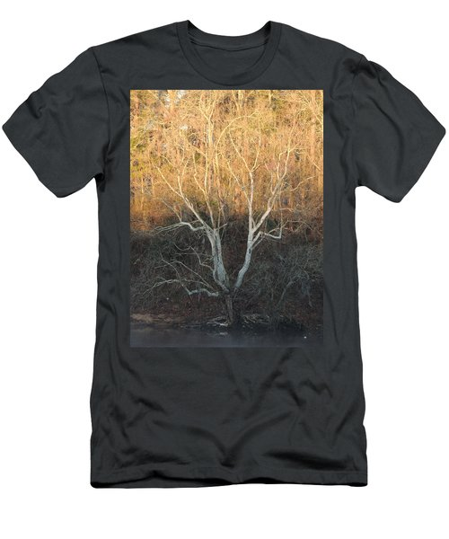 Men's T-Shirt (Slim Fit) featuring the photograph Flint River 12 by Kim Pate
