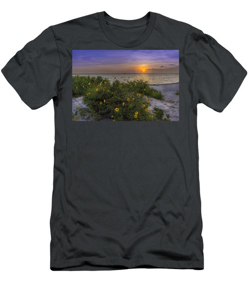 Floral Shore Men's T-Shirt (Athletic Fit)