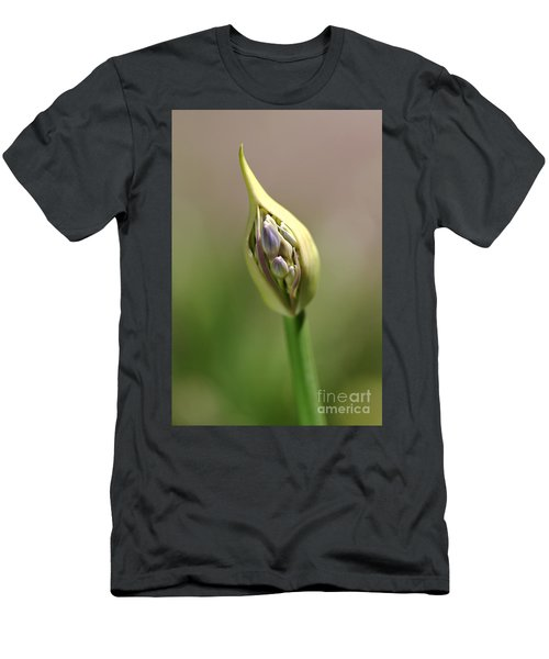 Flower-agapanthus-bud Men's T-Shirt (Athletic Fit)