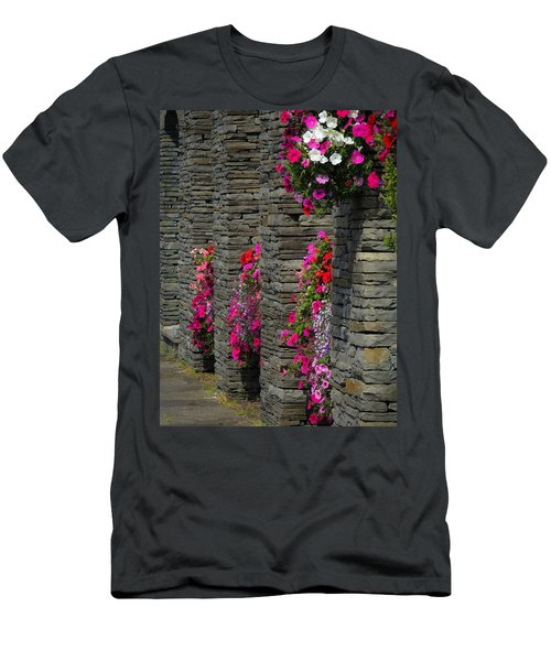 Flowers At Liscannor Rock Shop Men's T-Shirt (Athletic Fit)
