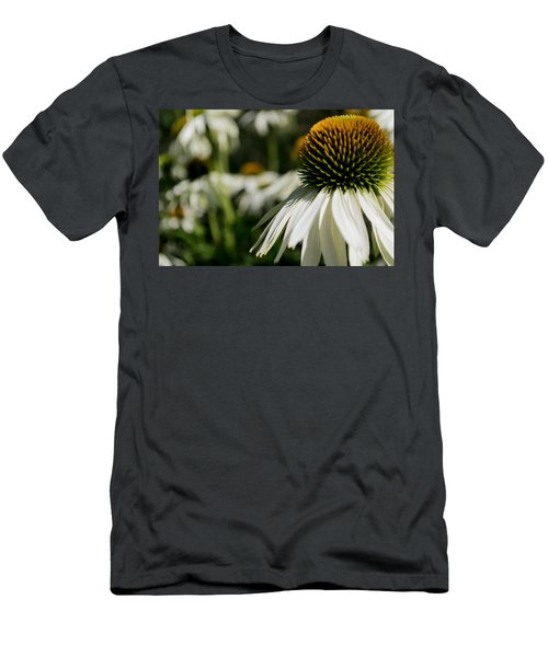 Flowers - Echinacea White Swan Men's T-Shirt (Athletic Fit)