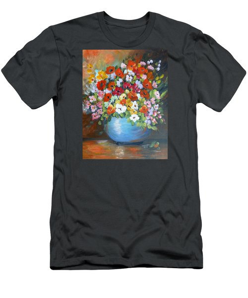 Flowers For A Friend Men's T-Shirt (Athletic Fit)