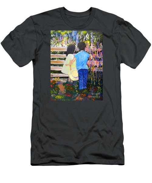 Flowers For Her Men's T-Shirt (Slim Fit) by Pamela  Meredith