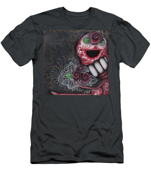 Flowers For The Dead II Men's T-Shirt (Slim Fit) by Abril Andrade Griffith