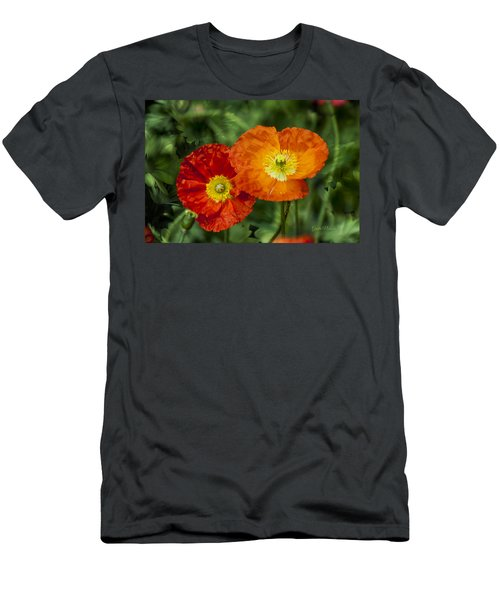 Men's T-Shirt (Athletic Fit) featuring the photograph Flowers In Kodakchrome by Gunter Nezhoda