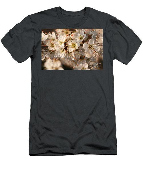 Flowers In The Sunset Men's T-Shirt (Athletic Fit)