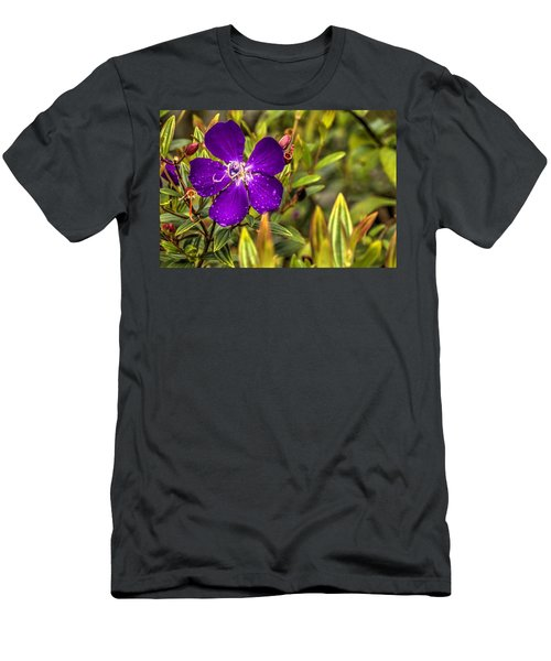 Men's T-Shirt (Athletic Fit) featuring the photograph Flowers Love Water by Tyson Kinnison