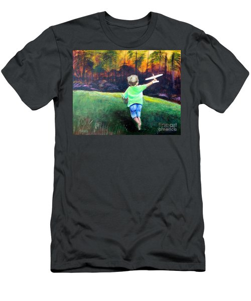 Men's T-Shirt (Slim Fit) featuring the painting Flying High by Patricia Piffath