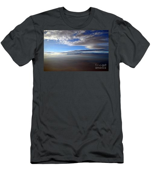 Flying Over Southern California Men's T-Shirt (Athletic Fit)