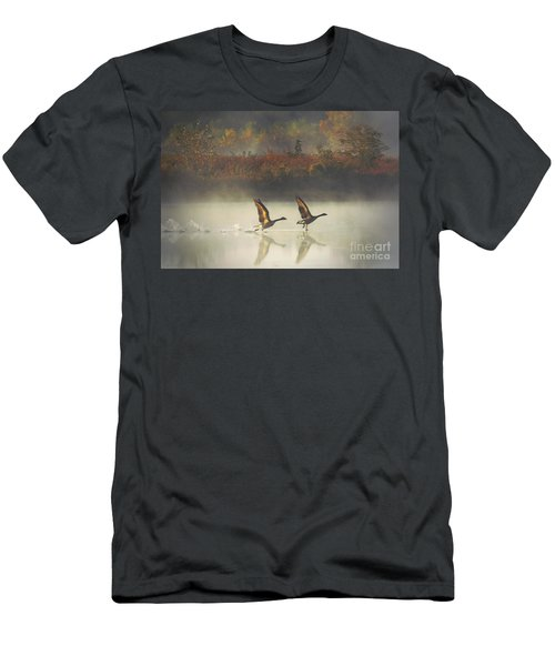 Foggy Autumn Morning Men's T-Shirt (Athletic Fit)