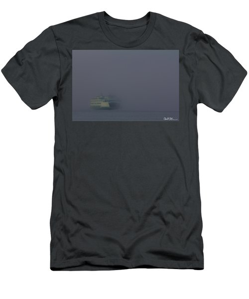 Foggy Ferry Ride Men's T-Shirt (Athletic Fit)