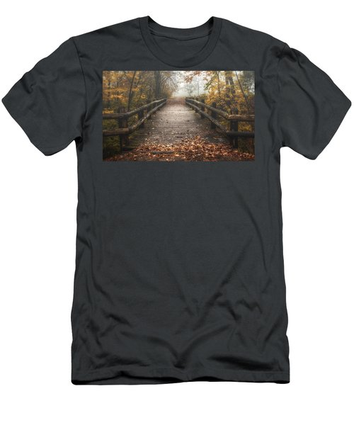 Foggy Lake Park Footbridge Men's T-Shirt (Athletic Fit)