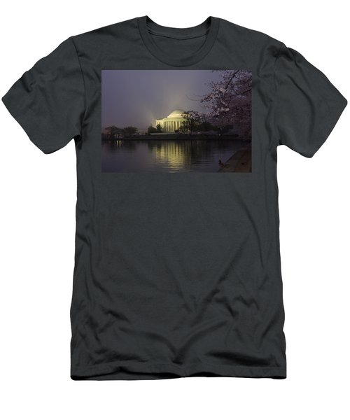Foggy Morning At The Jefferson Memorial 1 Men's T-Shirt (Athletic Fit)