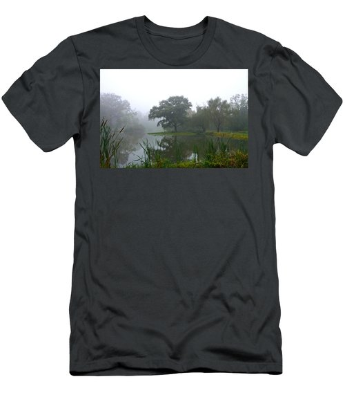 Men's T-Shirt (Athletic Fit) featuring the photograph Foggy Morning At The Willows by Byron Varvarigos