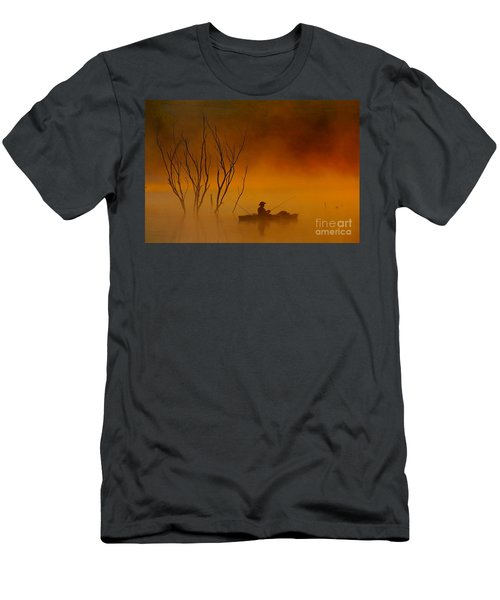 Foggy Morning Fisherman Men's T-Shirt (Athletic Fit)