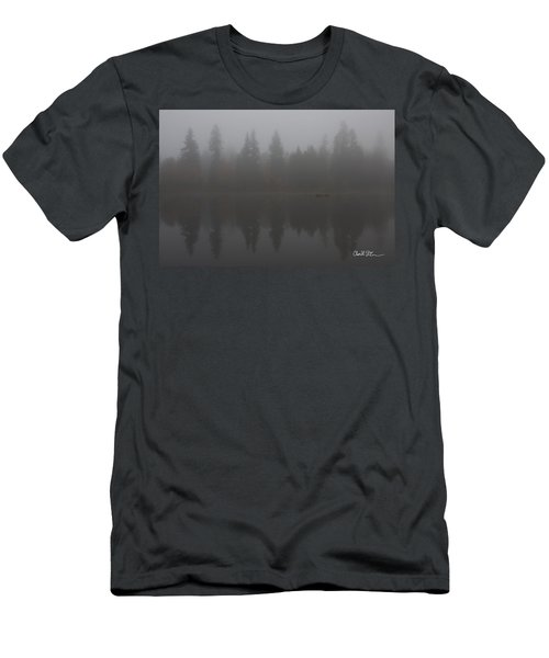 Foggy Morning On The Lake Men's T-Shirt (Athletic Fit)