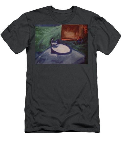 Folk Art Cat Men's T-Shirt (Athletic Fit)