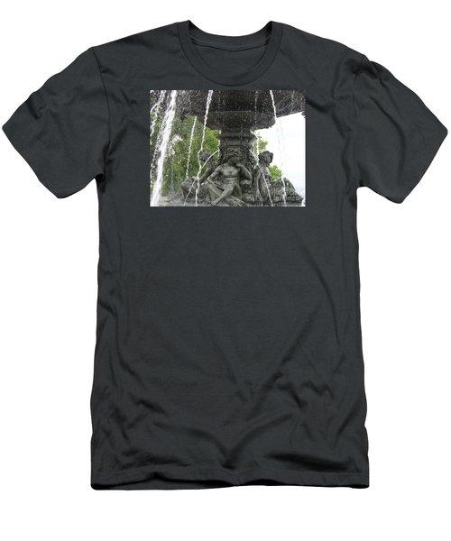 Fontaine De Tourny Men's T-Shirt (Slim Fit) by Lingfai Leung
