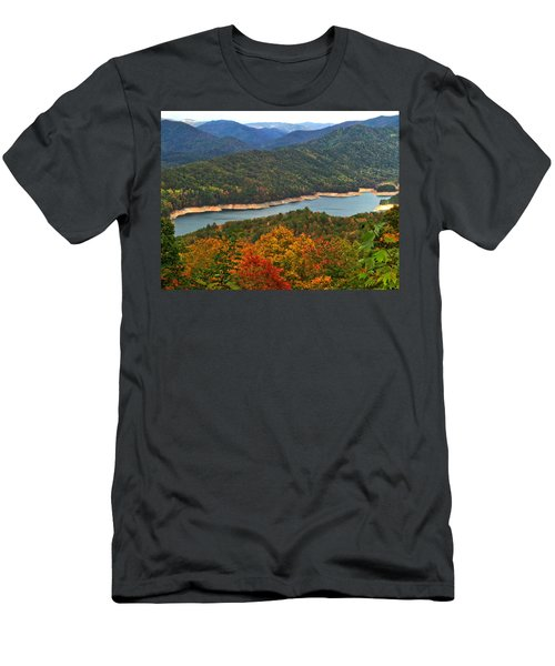 Fontana Lake In Fall Men's T-Shirt (Athletic Fit)