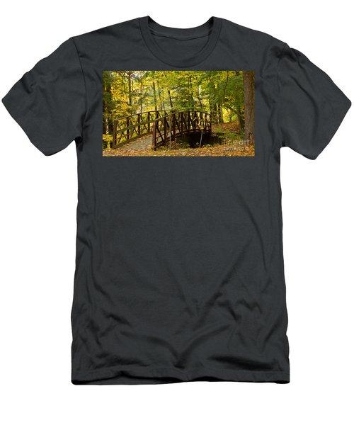 Footbridge At Letchworth Men's T-Shirt (Athletic Fit)