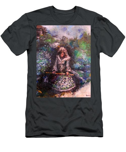 Men's T-Shirt (Athletic Fit) featuring the painting For Grandma by Laurie Lundquist