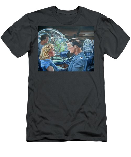 Men's T-Shirt (Slim Fit) featuring the painting Forbidden Planet by Bryan Bustard