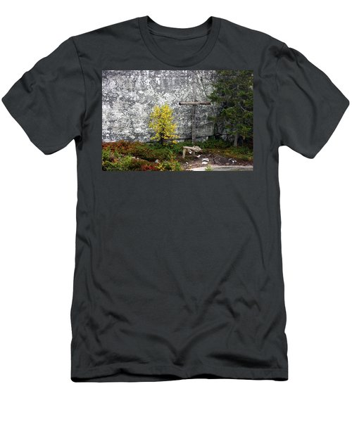 Men's T-Shirt (Slim Fit) featuring the photograph Forest Altar by Leena Pekkalainen