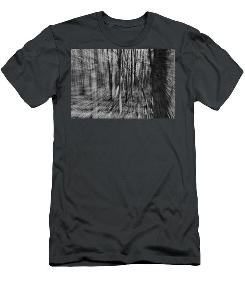 Forest Time B.w Men's T-Shirt (Athletic Fit)