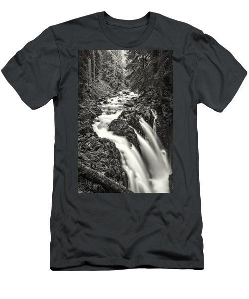 Forest Water Flow Men's T-Shirt (Athletic Fit)