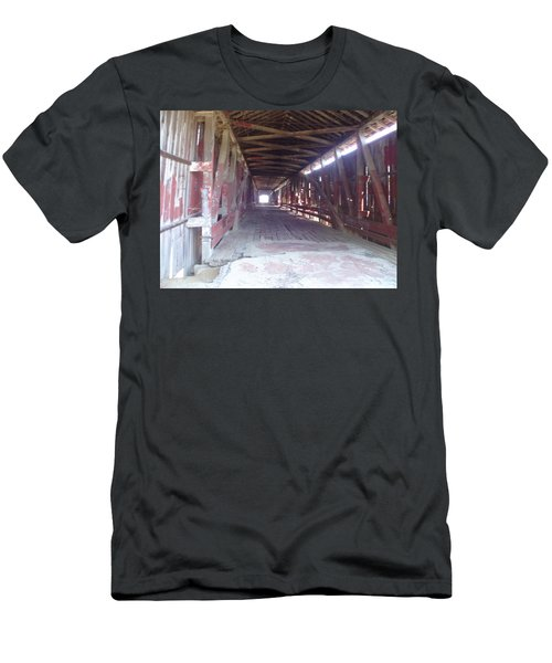 Men's T-Shirt (Slim Fit) featuring the photograph Forgotten Tunnel by Fortunate Findings Shirley Dickerson