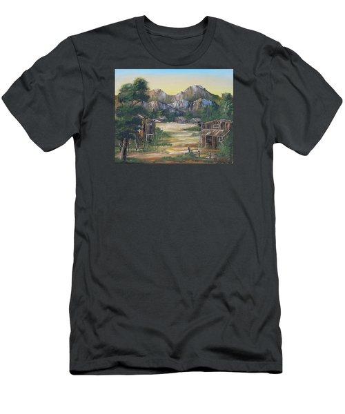 Forgotten Village Men's T-Shirt (Slim Fit) by Remegio Onia