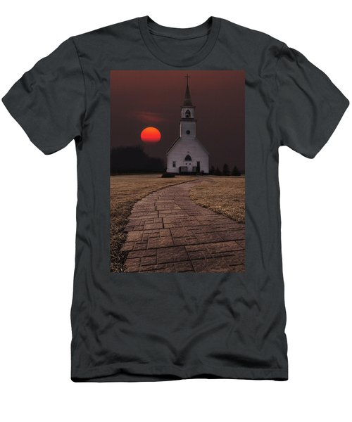 Fort Belmont Sunset Men's T-Shirt (Athletic Fit)