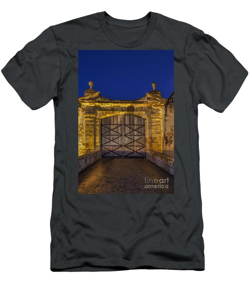 Men's T-Shirt (Athletic Fit) featuring the photograph Fort Castillo San Cristobal Inpuerto Rico by Bryan Mullennix