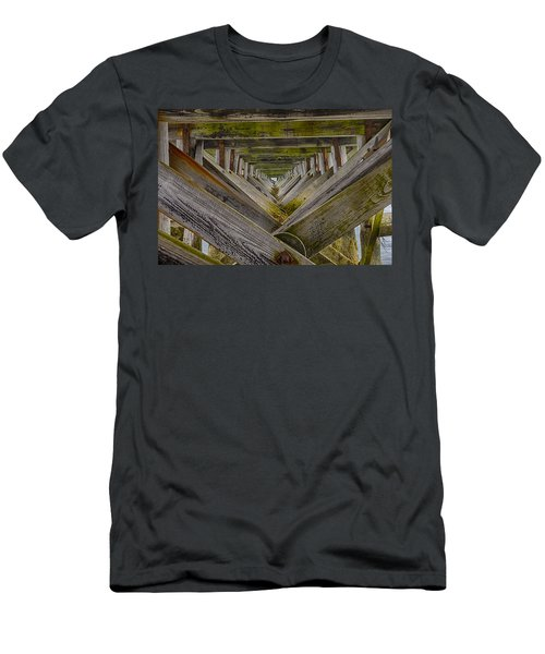 Fort Foster Pier - Kittery - Maine Men's T-Shirt (Athletic Fit)
