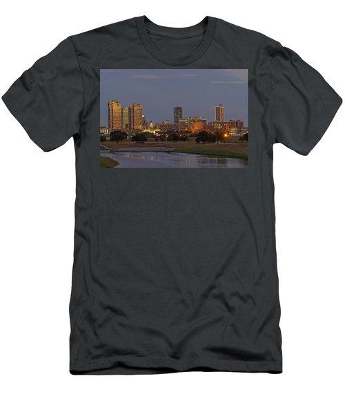 Fort Worth Skyline Golden Hour Men's T-Shirt (Athletic Fit)