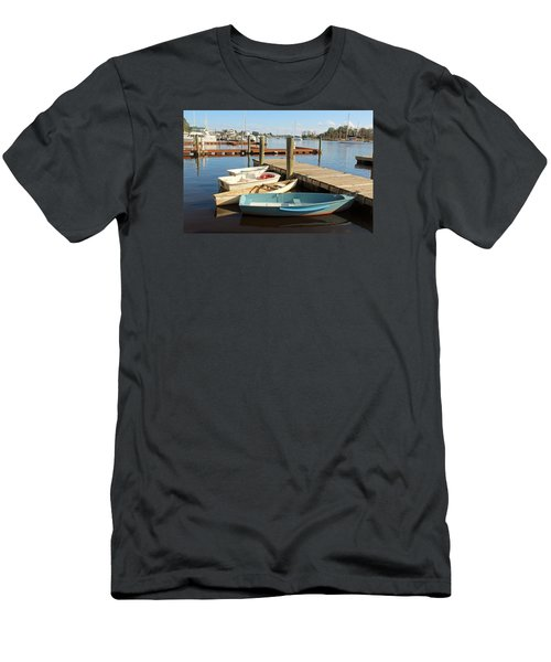 Men's T-Shirt (Slim Fit) featuring the photograph Four Boats  by Cynthia Guinn