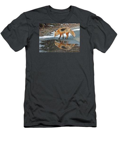 Fox Reflection Men's T-Shirt (Slim Fit) by Sami Martin
