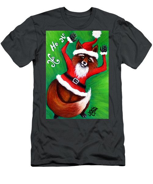 Foxy Santa Men's T-Shirt (Athletic Fit)