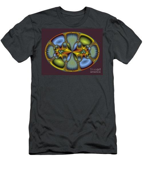 Fractal Art Egg Men's T-Shirt (Athletic Fit)