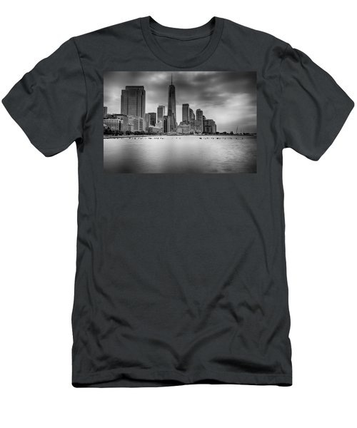 Freedom In The Skyline Men's T-Shirt (Athletic Fit)
