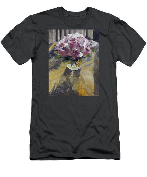 Men's T-Shirt (Slim Fit) featuring the painting Fresh by Pattie Wall