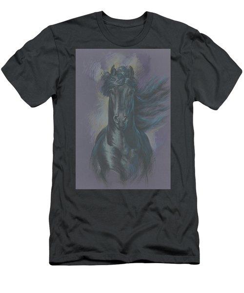 Friesian Horse Men's T-Shirt (Athletic Fit)