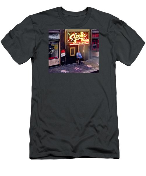 Frolic Room.hollywood Blvd Men's T-Shirt (Slim Fit) by Jennie Breeze