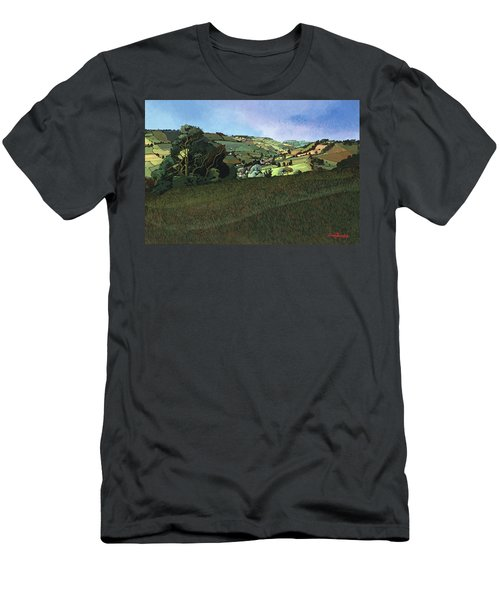 From Solsbury Hill Acrylic On Canvas Men's T-Shirt (Athletic Fit)